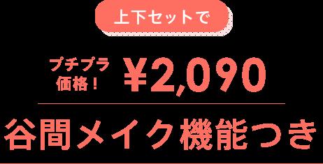上下セットでプチプラ価格!2,090円!谷間メイク機能つき!