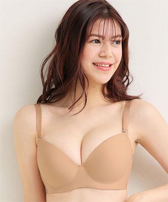美胸ブラ シームレス 単品ブラジャー (FGHカップ)