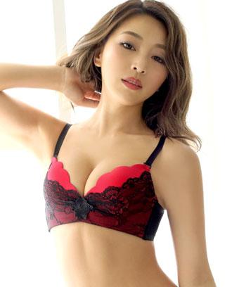 【プライスダウン】LACY スカラップ ノンワイヤーソフト 超盛ブラ(R) 単品ブラジャー