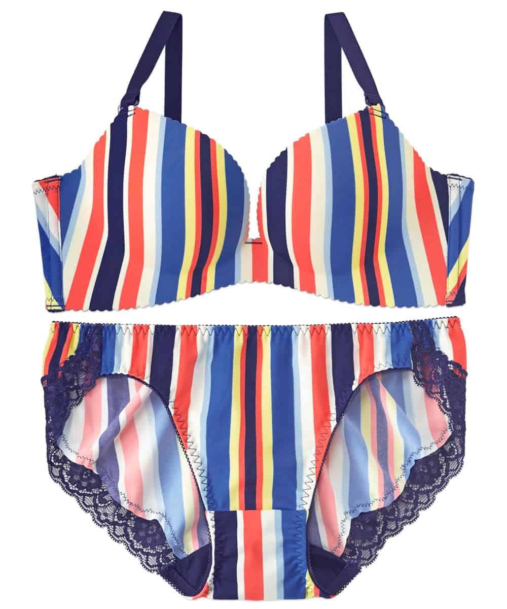 Colorful Stripe 超盛ブラ(R) ブラジャー&ショーツ