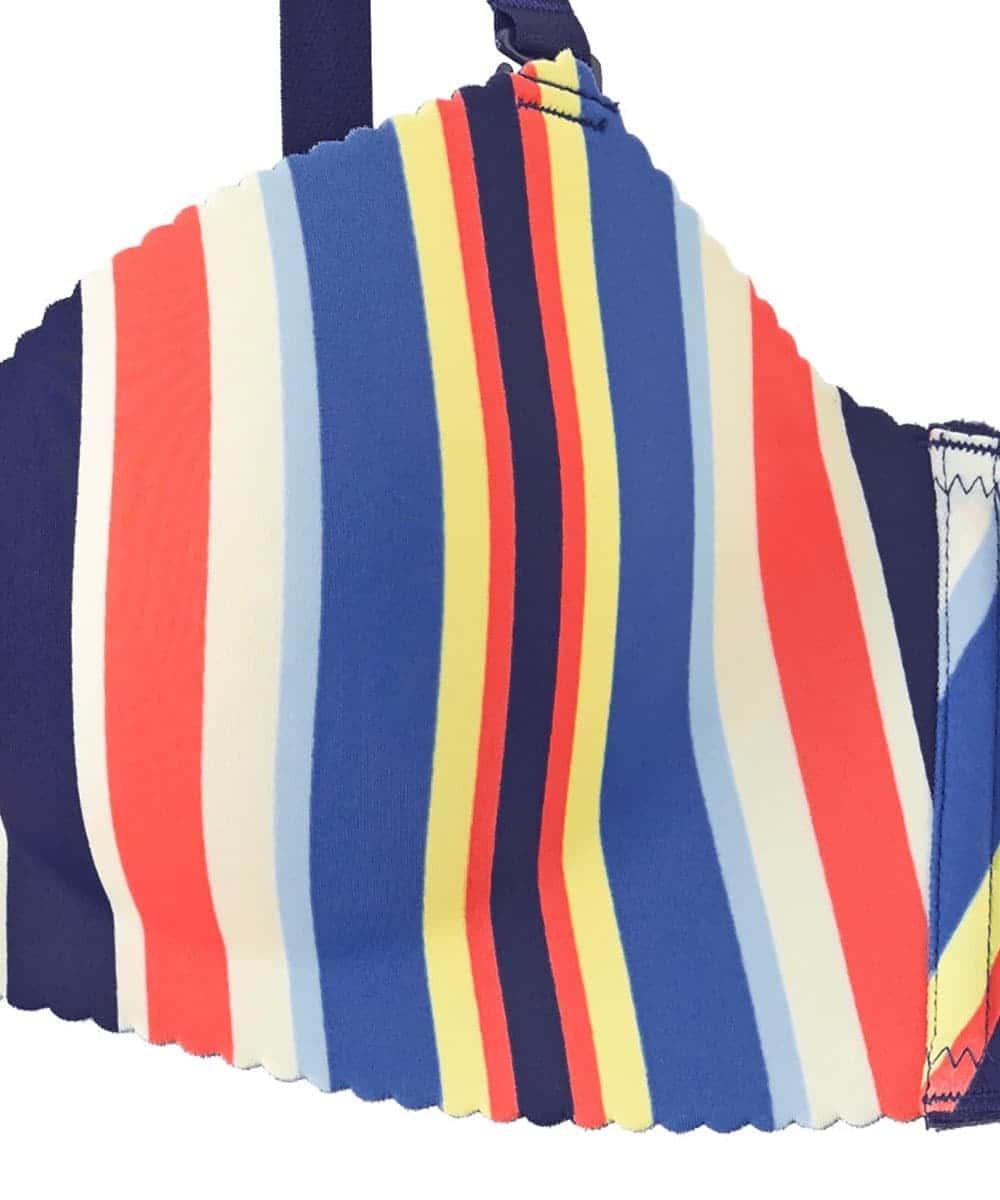 【プライスダウン】Colorful Stripe 超盛ブラ(R) 単品ブラジャー