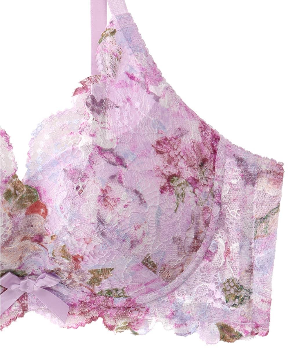 Jolie Flower カシュクールレース脇高ブラ(R) ブラジャー&ショーツ