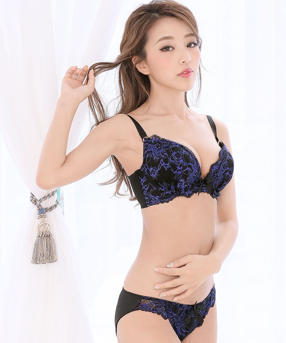 【WEB限定】バーレスク脇高ブラ(R) 2 ブラジャー&ショーツ (FGHカップ)