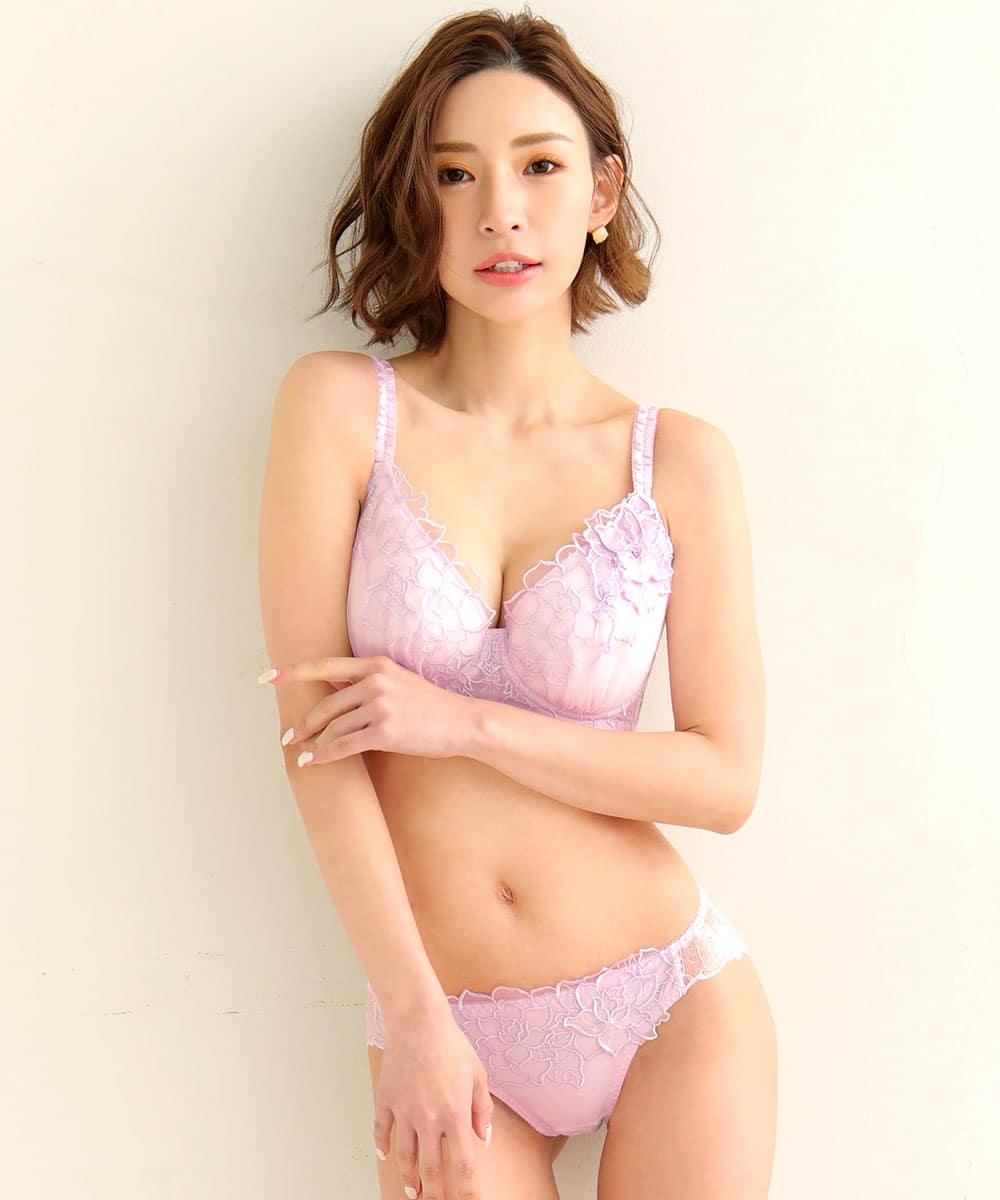 フルブルーム 脇高 ブラジャー&ショーツ (FGHカップ)