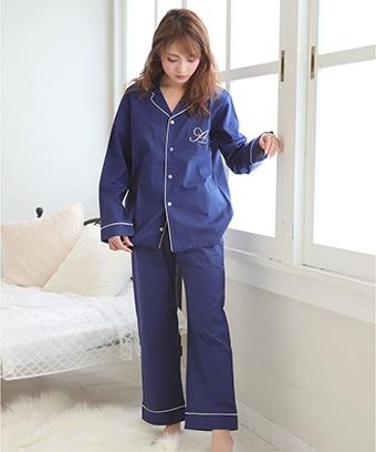 長袖 シャツパジャマ 上下セット (男女兼用サイズ)