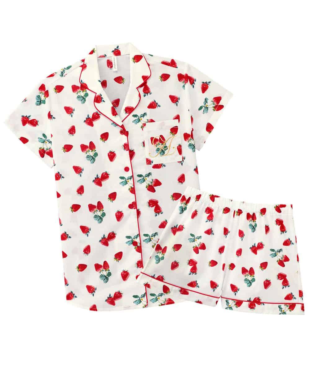 半袖 シャツパジャマ 上下セット