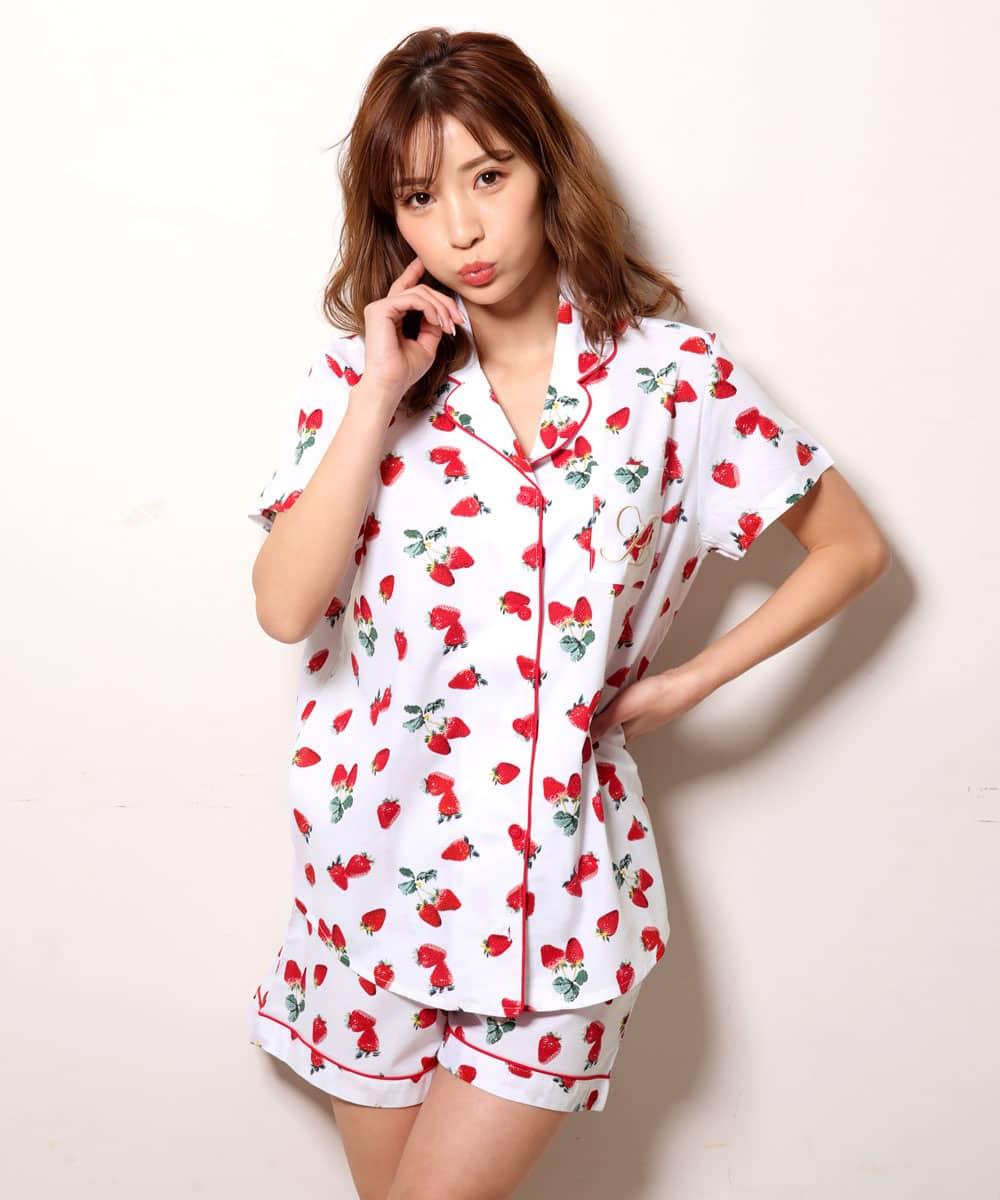 半袖 シャツパジャマ 上下セット:MODEL:158cm/SIZE:M