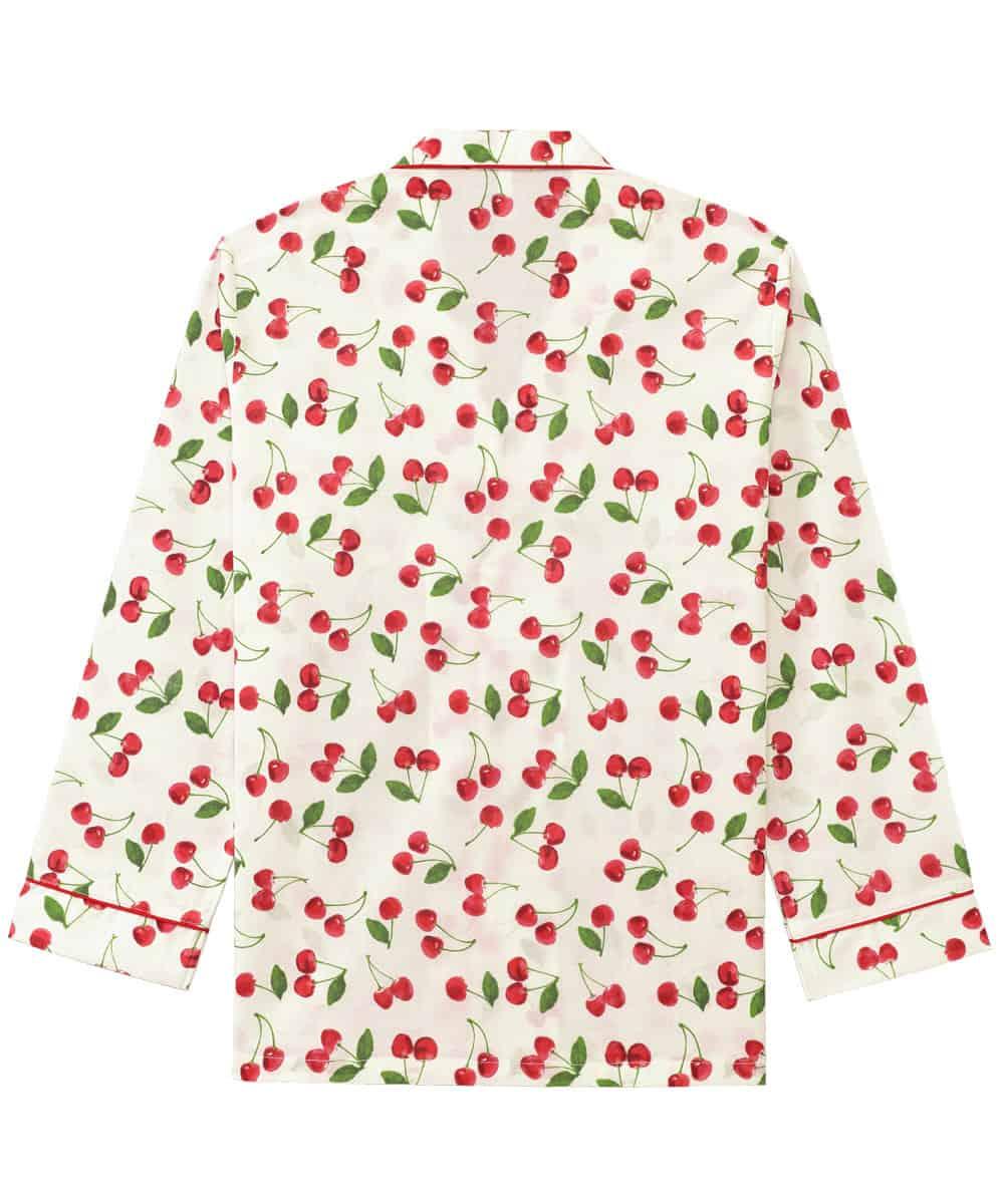 スイーツ柄 長袖 シャツパジャマ 上下セット