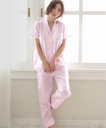 【プライスダウン】半袖 ロングパンツ パジャマ 上下セット