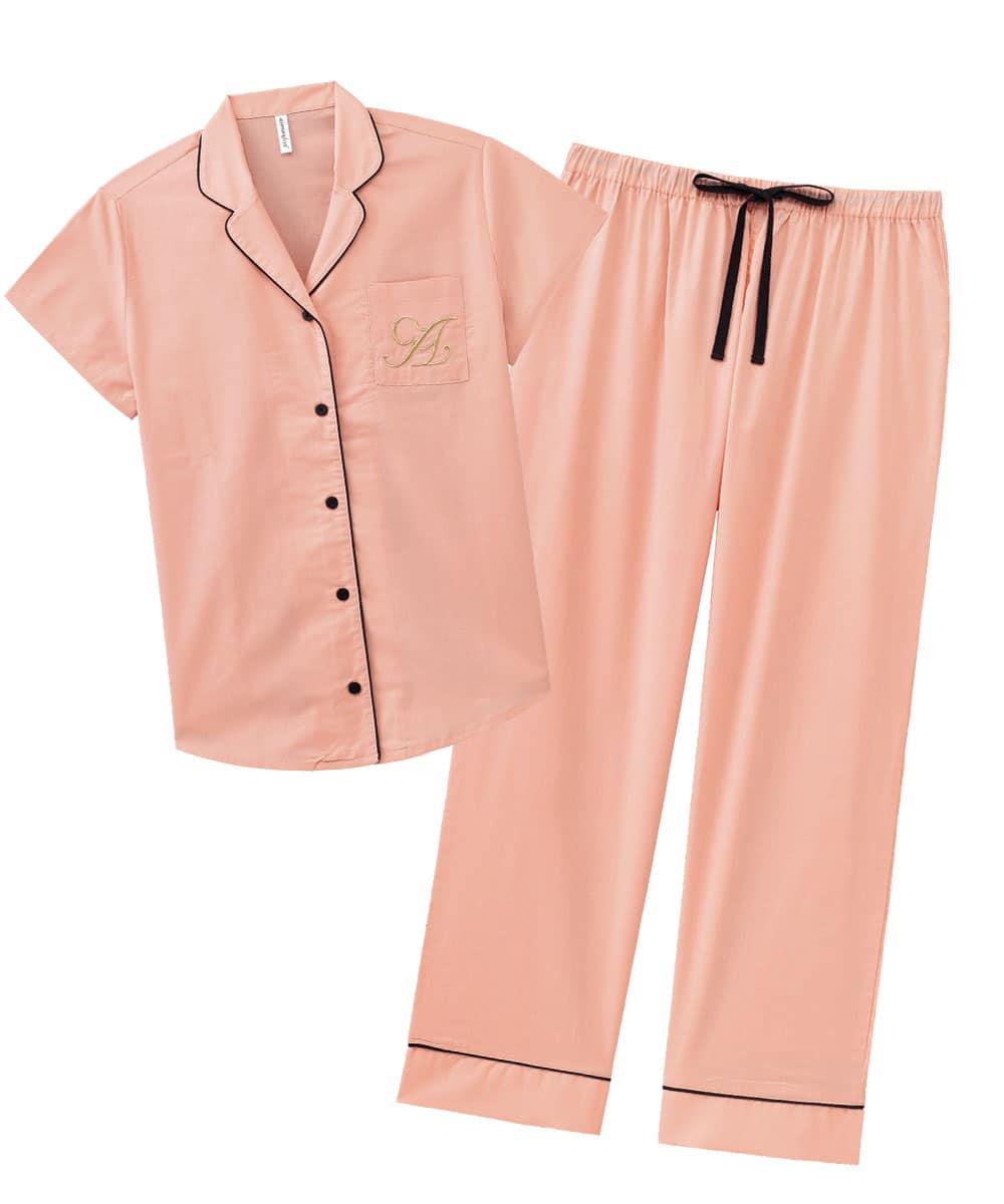 半袖 ロングパンツ パジャマ 上下セット