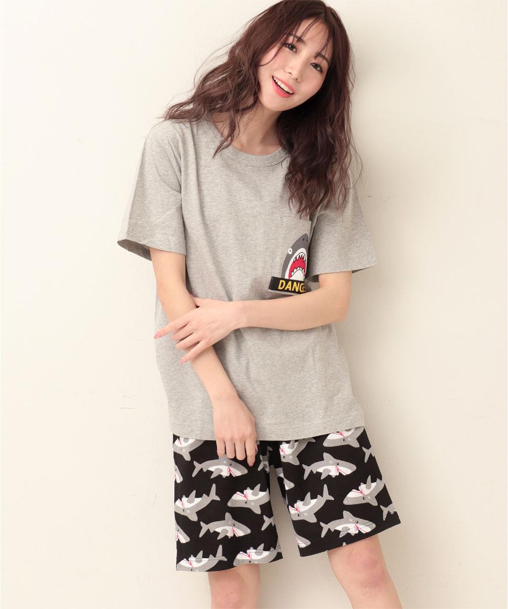 ポケットTシャツ 上下セット (男女兼用サイズ):MODEL:164cm/SIZE:M
