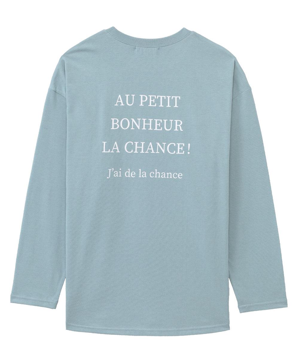 バックプリント ロングTシャツ 上下セット