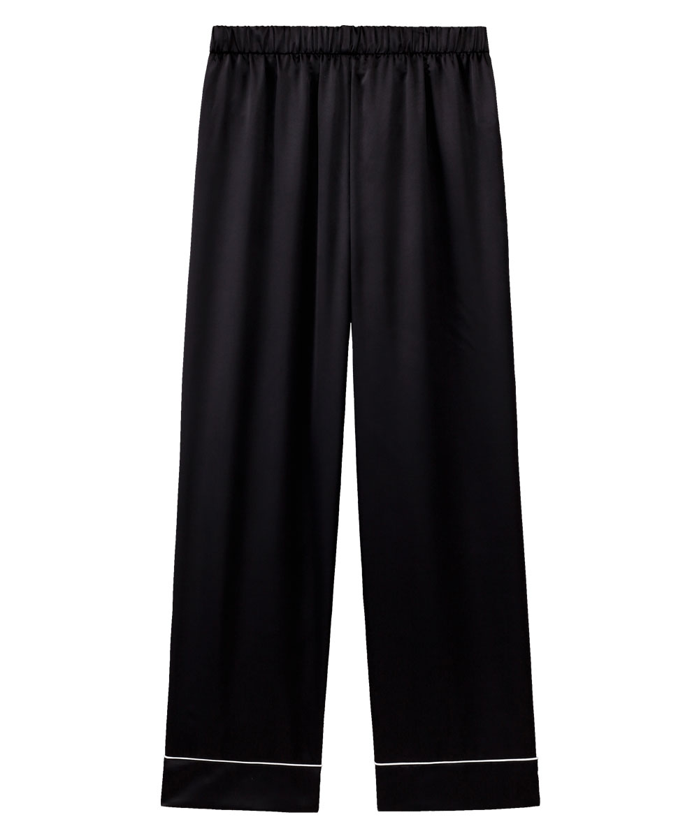 【プライスダウン】シルクタッチサテン パジャマ 上下セット