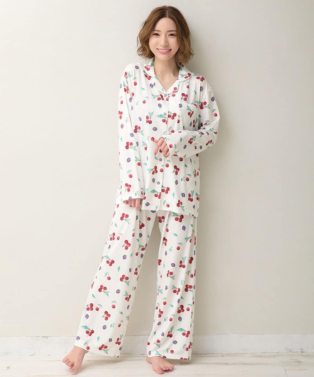 とろみタッチパジャマ 上下セット:MODEL:158cm/SIZE:M