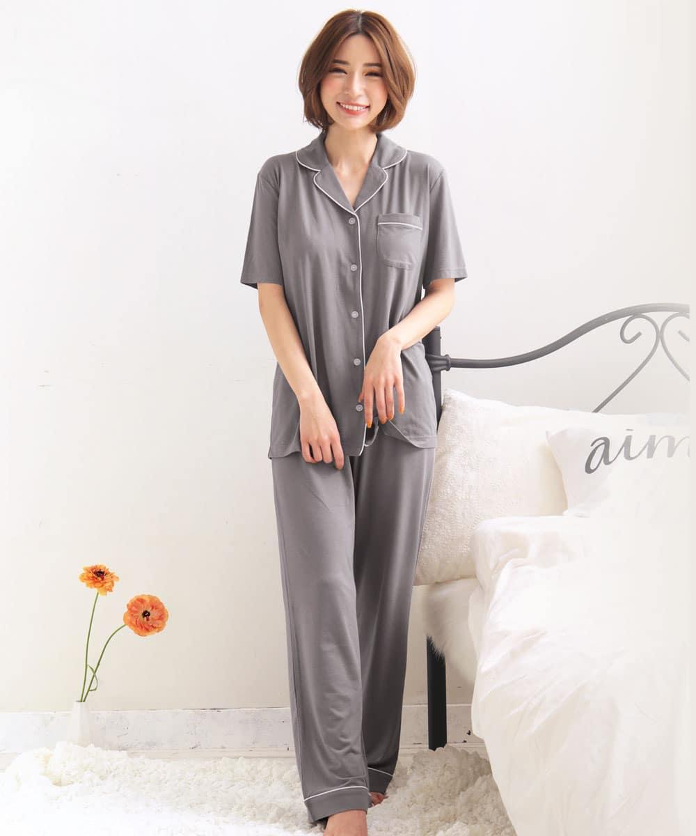 ひんやりタッチパジャマ 上下セット:MODEL:158cm/SIZE:M