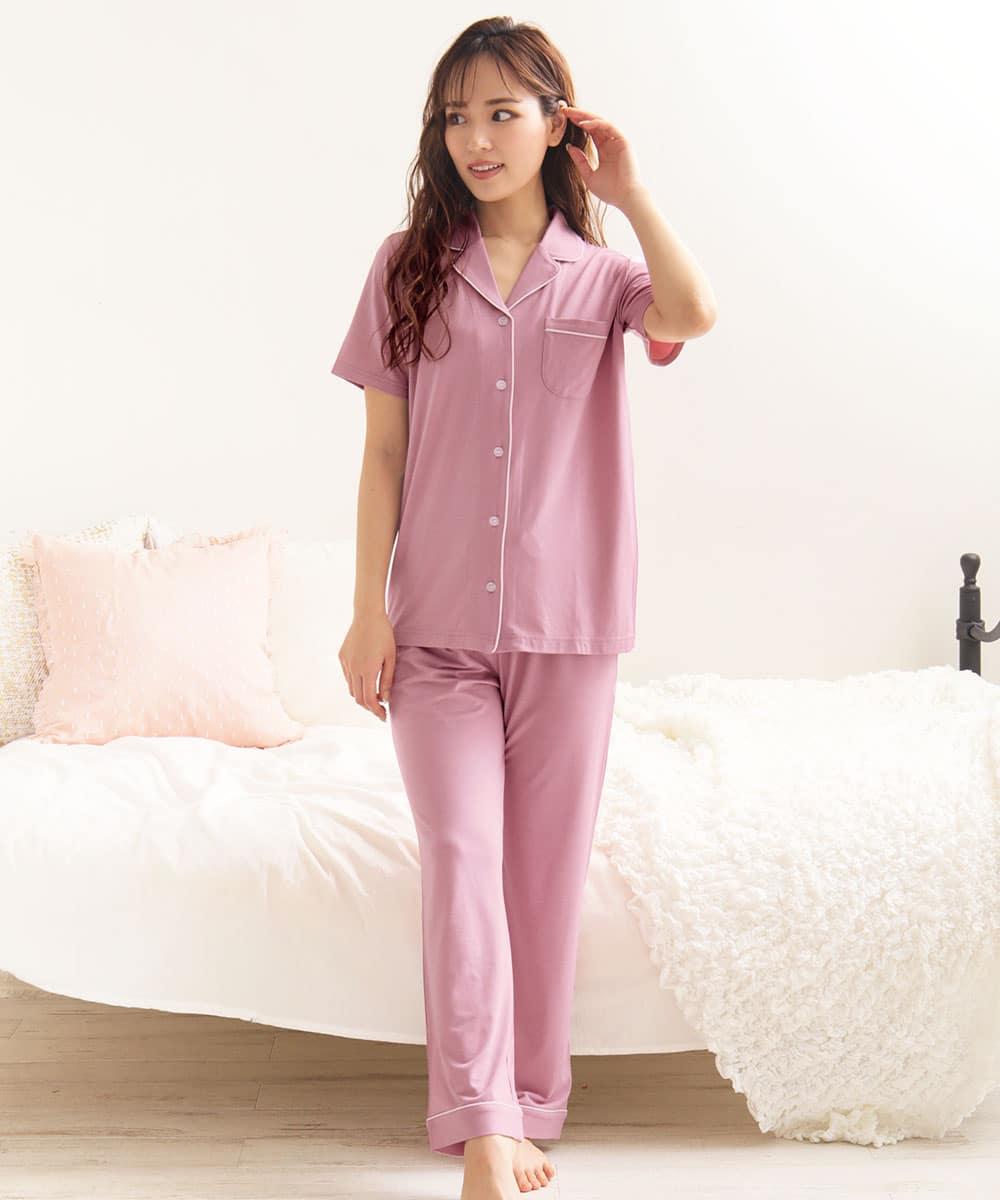 ひんやりタッチパジャマ 上下セット:MODEL:160cm/SIZE:M