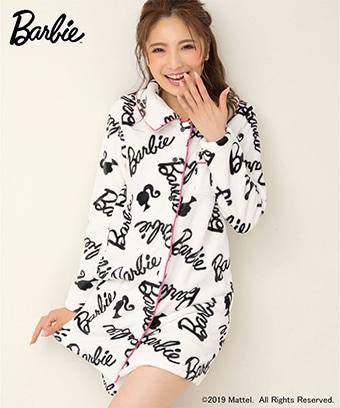 【プライスダウン】バービー フリース ワンピース パジャマ 上下セット