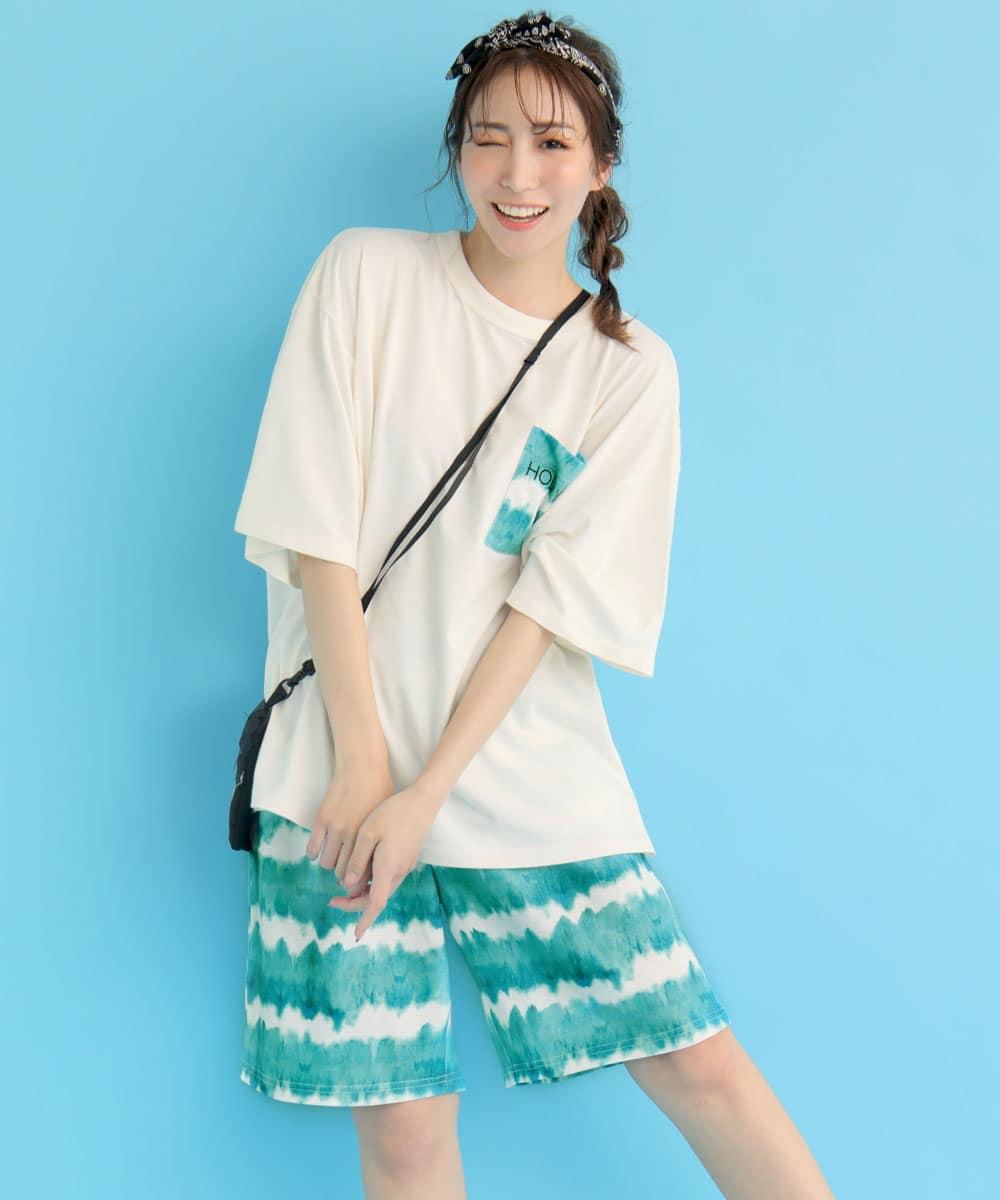 BIGTシャツ 上下セット (男女兼用サイズ):MODEL:164cm/SIZE:M