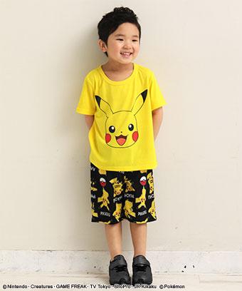 ポケモン Big Face Kids Tシャツ 上下セット