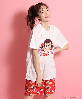 【プライスダウン】ペコちゃん キャンディ Tシャツ 上下セット