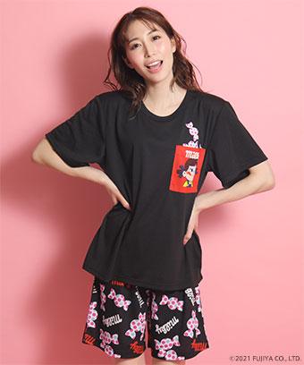 ペコちゃん キャンディ ポケット付き Tシャツ 上下セット
