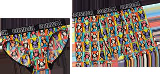COMICAL BULLDOGのレディースショーツとメンズショーツの画像